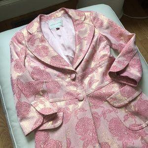 Banana Republic Long Pink/Gold Rose Coat